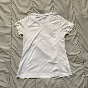 white champion dry fit workout top